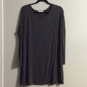 "Boutique type knit top/dress. 34"" long"